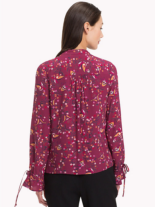 TOMMY HILFIGER Mandarin Collar Blouse - FOLKLORE FLORAL / CABARNET - TOMMY HILFIGER Black Friday Women - detail image 1