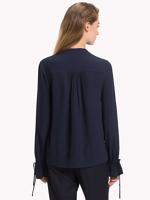 TOMMY HILFIGER Mandarin Collar Blouse - MIDNIGHT - TOMMY HILFIGER Black Friday Women - detail image 1