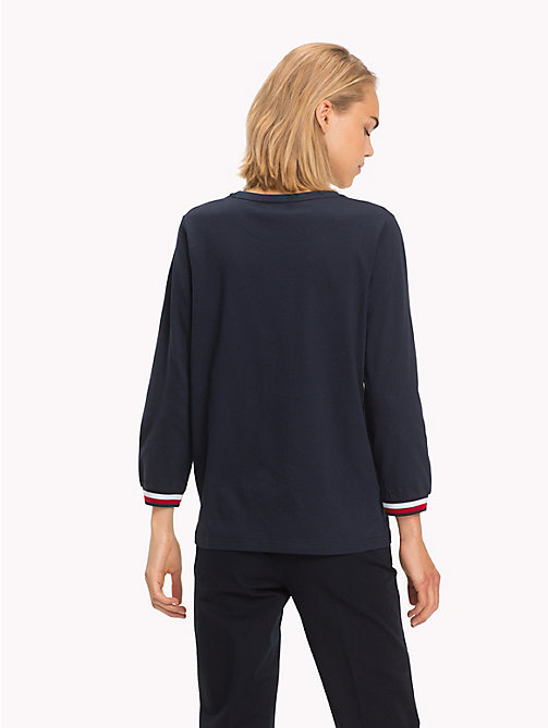 TOMMY HILFIGER Global Stripe Top - MIDNIGHT - TOMMY HILFIGER Signature stripes - detail image 1