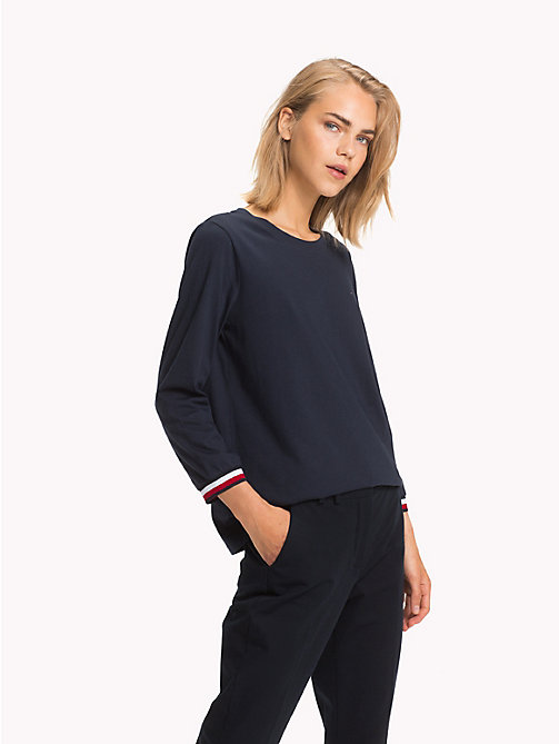 TOMMY HILFIGER Haut Global Stripe - MIDNIGHT - TOMMY HILFIGER Tops - image principale