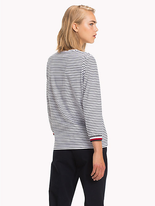 TOMMY HILFIGER Global Stripe Top - CL. WHITE / MIDNIGHT STP - TOMMY HILFIGER Signature stripes - detail image 1