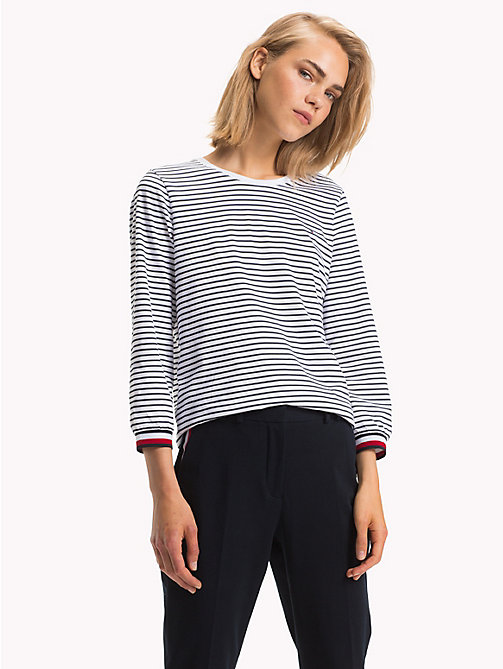 TOMMY HILFIGER Haut Global Stripe - CL. WHITE / MIDNIGHT STP -  Tops - image principale