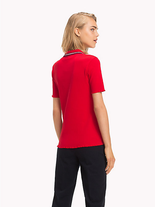 TOMMY HILFIGER Global Stripe Poloshirt - TRUE RED - TOMMY HILFIGER Clothing - main image 1