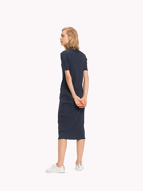 TOMMY HILFIGER Global Stripe Polokleid - MIDNIGHT - TOMMY HILFIGER Midi - main image 1