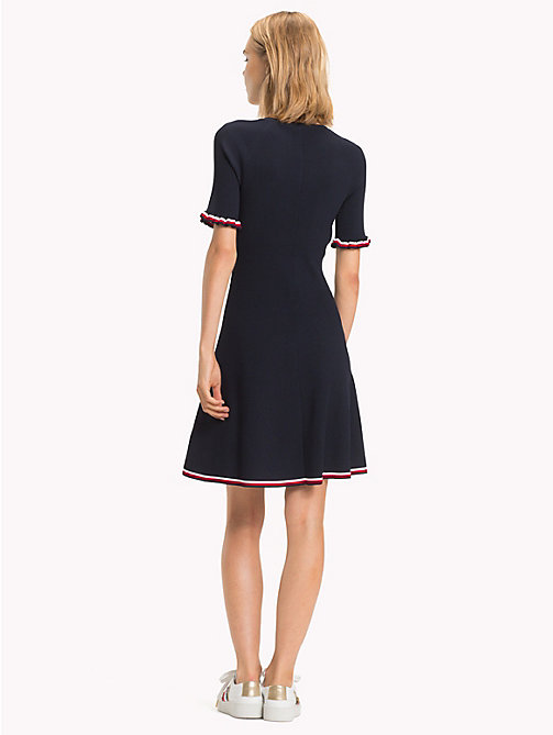 TOMMY HILFIGER A-line jurk met global stripe - MIDNIGHT - TOMMY HILFIGER Signature-strepen - detail image 1