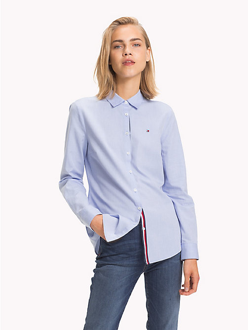 TOMMY HILFIGER Global Stripe Slim Fit Shirt - SHIRT BLUE - TOMMY HILFIGER Signature stripes - main image