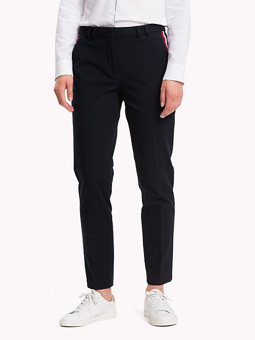TOMMY HILFIGER Global Stripe Trousers - MIDNIGHT - TOMMY HILFIGER Tommy Days Women - main image