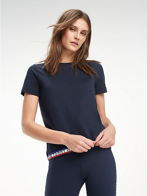 TOMMY HILFIGER Repeat Logo Crew Neck T-Shirt - MIDNIGHT - TOMMY HILFIGER T-Shirts - main image