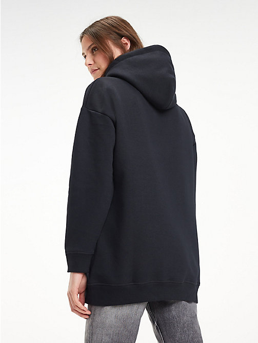 TOMMY HILFIGER Relaxed fit hoodie van fleece - BLACK BEAUTY - TOMMY HILFIGER Kleding - detail image 1