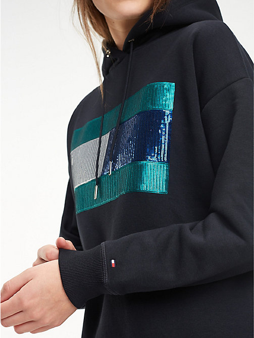 TOMMY HILFIGER Relaxed fit hoodie van fleece - BLACK BEAUTY - TOMMY HILFIGER Kleding - main image