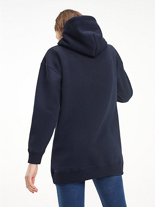 TOMMY HILFIGER Relaxed Fit Fleece Hoody - MIDNIGHT - TOMMY HILFIGER Winter Warmers - detail image 1