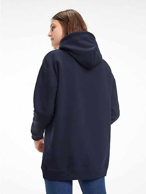 TOMMY HILFIGER Relaxed Fit Fleece Hoody - MIDNIGHT / SEQUIN ARTWORK - TOMMY HILFIGER Something Special - detail image 1