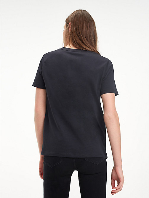 TOMMY HILFIGER Cotton Crew Neck T-Shirt - BLACK BEAUTY -  T-Shirts - detail image 1