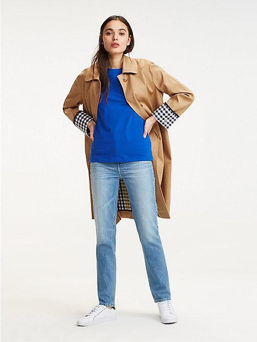 9817f43708dcfc blue t-shirt aus bio-baumwolle für damen - tommy hilfiger