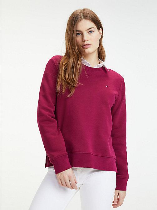 0450944e790ab0 purple sweatshirt mit rundhalsausschnitt für damen - tommy hilfiger