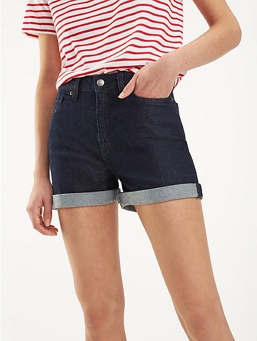 TOMMY HILFIGER Essential High Waist Denim Shorts - TAMA - TOMMY HILFIGER NEW IN - main image