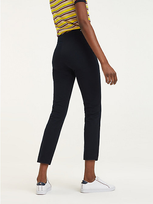 TOMMY HILFIGER High rise enkellange legging - MIDNIGHT - TOMMY HILFIGER Kleding - detail image 1