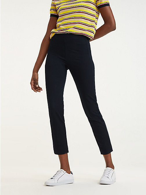TOMMY HILFIGER High Waist Ankle Leggings - MIDNIGHT - TOMMY HILFIGER Joggers - main image