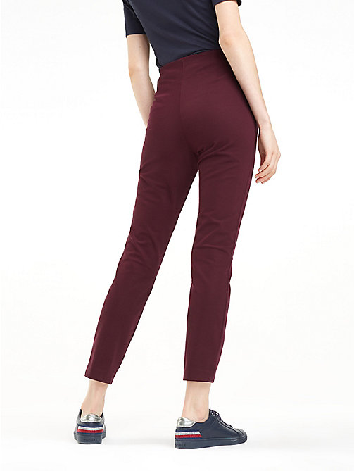 TOMMY HILFIGER High Waist Ankle Leggings - PLUM - TOMMY HILFIGER Joggers - detail image 1