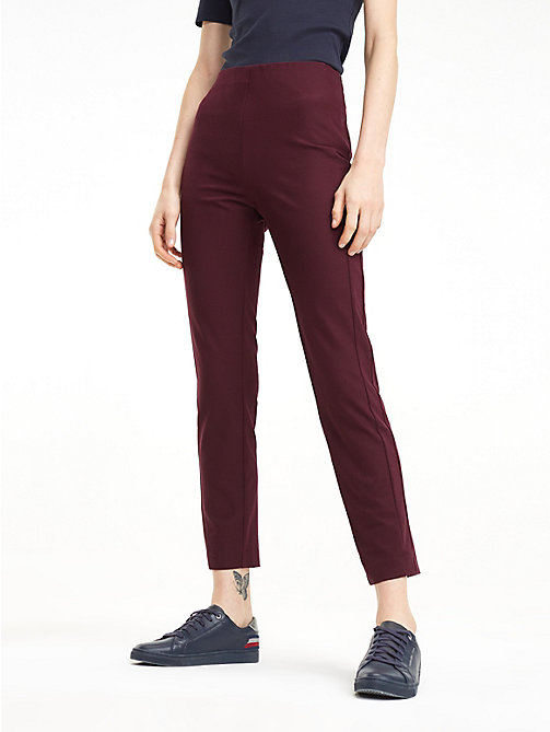 TOMMY HILFIGER High Waist Ankle Leggings - PLUM - TOMMY HILFIGER NEW IN - main image