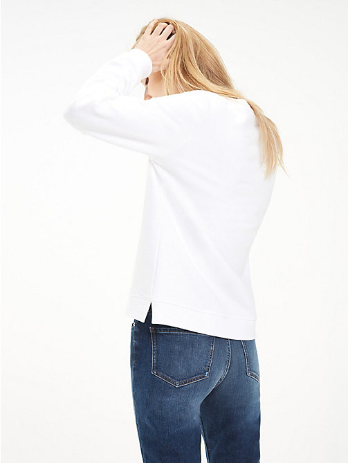TOMMY HILFIGER Heritage Crew Neck Sweatshirt - CLASSIC WHITE - TOMMY HILFIGER Basics - detail image 1