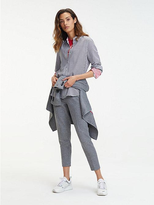029add7baa13d7 grey spodnie th flex z krótszymi nogawkami dla kobiety - tommy hilfiger