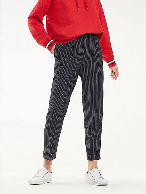 24d5523835f04 pantalon fuselé essential th flex blue pour femmes tommy hilfiger
