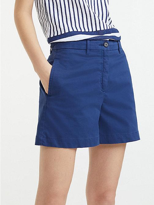 1c96dbd7 blue essential high waist cotton shorts for women tommy hilfiger