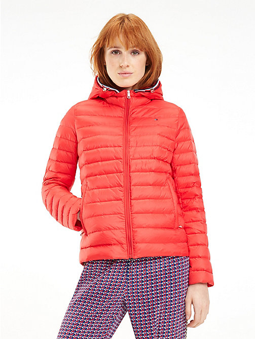 53274cf343cd8 red essential packable down padded jacket for women tommy hilfiger