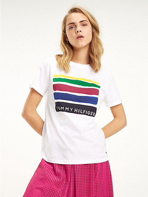 93632cbc9 TOMMY HILFIGEROrganic Cotton Retro T-Shirt. £35.00. NEW
