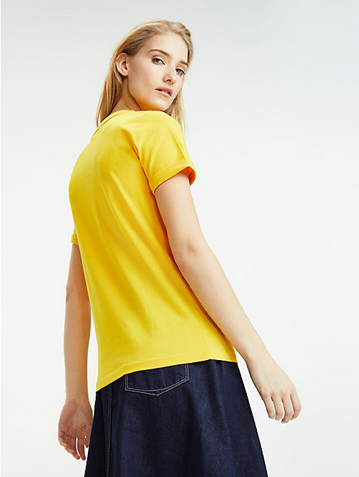 TOMMY HILFIGER Essential Flag Print T-Shirt - SPECTRA YELLOW - TOMMY HILFIGER Sustainable Evolution - detail image 1