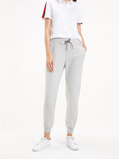 TOMMY HILFIGER Essential Zip Detail Joggers - LIGHT GREY HTR - TOMMY HILFIGER NEW IN - main image