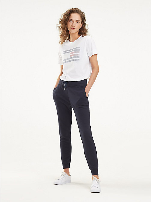 TOMMY HILFIGER Essential Zip Detail Joggers - MIDNIGHT - TOMMY HILFIGER Joggers - main image