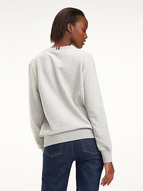 TOMMY HILFIGER Essential Crew Neck Sweatshirt - LIGHT GREY HTR - TOMMY HILFIGER Sweatshirts - detail image 1