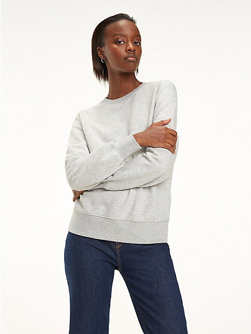 TOMMY HILFIGER Essential Crew Neck Sweatshirt - LIGHT GREY HTR - TOMMY HILFIGER Sweatshirts - main image