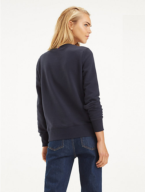 TOMMY HILFIGER Essential Crew Neck Sweatshirt - MIDNIGHT - TOMMY HILFIGER Sweatshirts - detail image 1