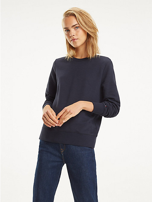 TOMMY HILFIGER Essential Crew Neck Sweatshirt - MIDNIGHT - TOMMY HILFIGER Sweatshirts - main image