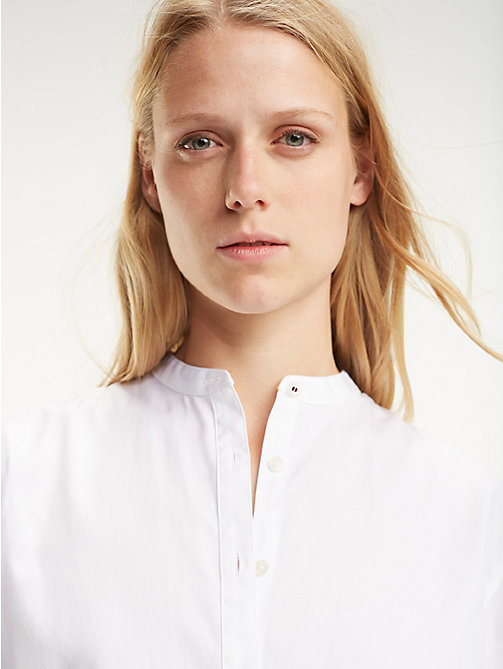 TOMMY HILFIGER Essential Organic Cotton Girlfriend Shirt - CLASSIC WHITE - TOMMY HILFIGER Shirts - main image