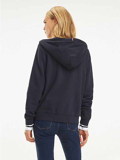 TOMMY HILFIGER Essential Terry Hoody - MIDNIGHT - TOMMY HILFIGER Hoodies - detail image 1