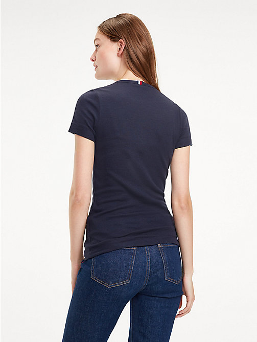 TOMMY HILFIGER Essential Slim Ribbed T-Shirt - MIDNIGHT - TOMMY HILFIGER T-Shirts - detail image 1