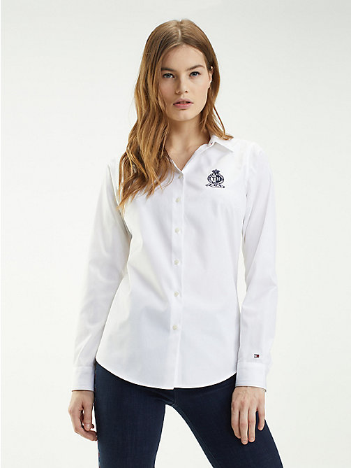 TOMMY HILFIGER Essential Organic Cotton Shirt - CLASSIC WHITE - TOMMY HILFIGER Sustainable Evolution - main image