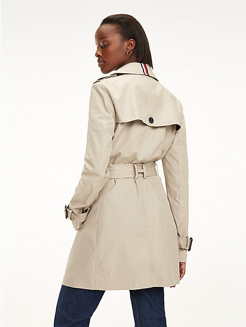 TOMMY HILFIGER Essential Double Breasted Trench Coat - MEDIUM TAUPE - TOMMY HILFIGER NEW IN - detail image 1