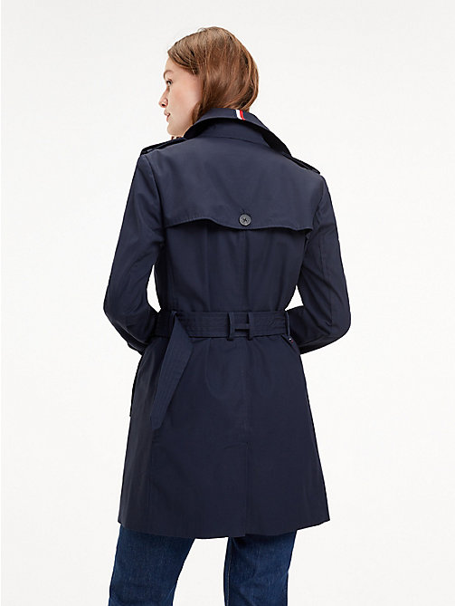 TOMMY HILFIGER Essential Double Breasted Trench Coat - MIDNIGHT - TOMMY HILFIGER Trench Coats - detail image 1