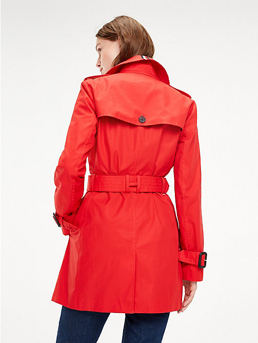 TOMMY HILFIGER Essential Double Breasted Trench Coat - TRUE RED - TOMMY HILFIGER NEW IN - detail image 1