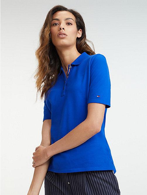 5fb7fd317148af blue essential regular fit polo for women tommy hilfiger
