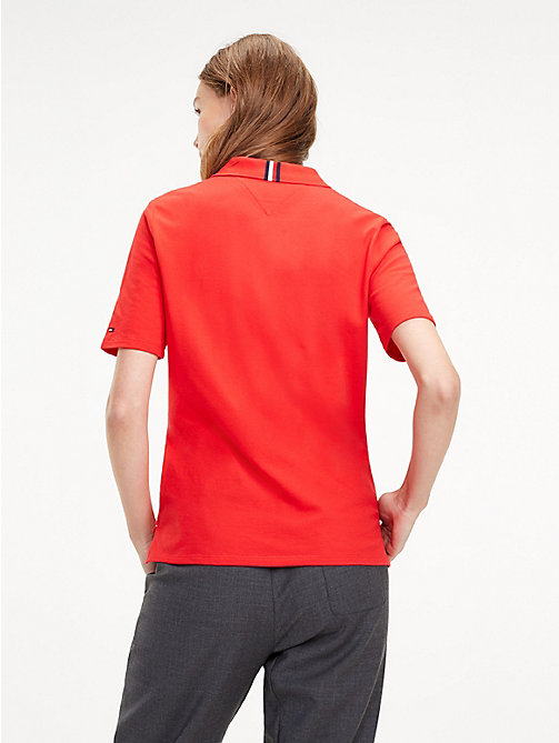 TOMMY HILFIGER Essential Polo - TRUE RED - TOMMY HILFIGER Polo Shirts - detail image 1