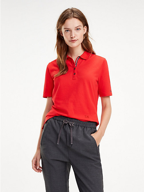TOMMY HILFIGER Essential Polo - TRUE RED - TOMMY HILFIGER Polo Shirts - main image