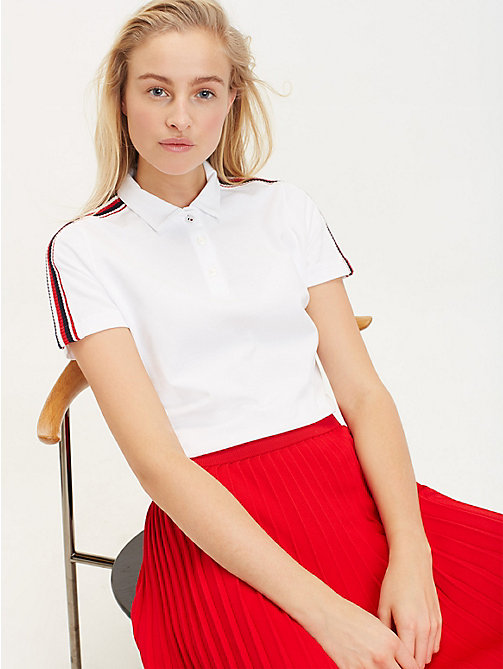 TOMMY HILFIGER Polo Essential à rayures - CLASSIC WHITE - TOMMY HILFIGER Sustainable Evolution - image principale