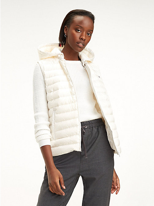 TOMMY HILFIGER Essential Packable Vest - SNOW WHITE - TOMMY HILFIGER Jackets - main image