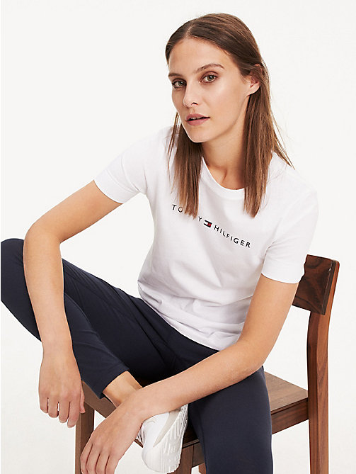 TOMMY HILFIGER Essential Printed T-Shirt - CLASSIC WHITE - TOMMY HILFIGER Sustainable Evolution - main image